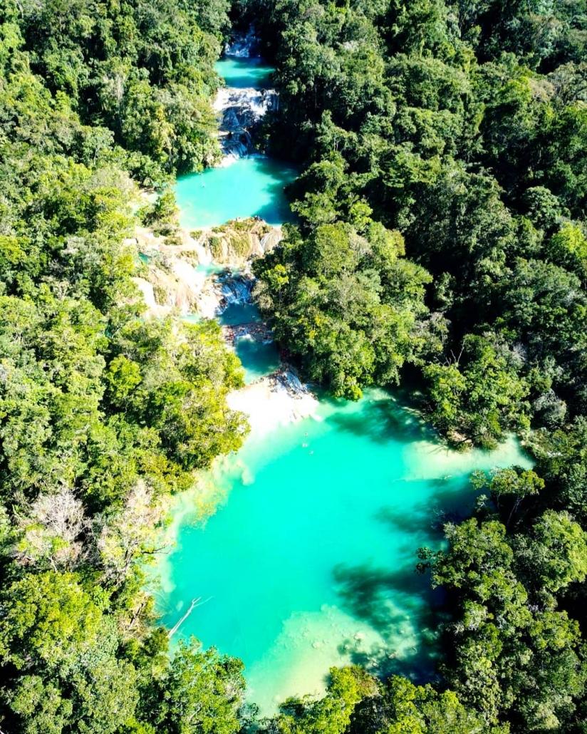 Vista aerea de las Cascadas Roberto Barrios
